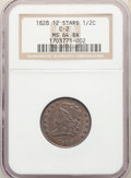1828 1/2 C 12 Stars, C-2, B-3, R.2, MS64 Brown NGC