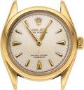 Timepieces:Wristwatch, Rolex, 14k Gold Oyster Perpetual, Ref. 6084, circa 1950, Parts Watch. ...