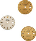 Timepieces:Other , Three Rolex Lady's Dials For 24 mm Date, DateJust Models. ... (Total: 3 Items)