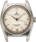 Timepieces:Wristwatch, Rolex, Steel Bubble Back, Ref. 5050, circa 1949, Parts Watch. ...