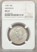 Commemorative Silver, 1938 50C Arkansas MS67 NGC....
