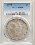 Morgan Dollars: , 1887-O $1 MS64 PCGS. PCGS Population: (2912/401). NGC Census: (1898/83). CDN: $305 Whsle. Bid for problem-free NGC/PCGS MS6...