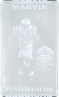 Football Collectibles:Others, 2016 Pro Football Hall of Fame Crystal Display Presented to Marvin Harrison....