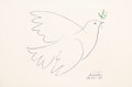 Prints:Contemporary, After Pablo Picasso . Dove of Peace, 1961. Offset lithograph in colors on wove paper. 20 x 26 inches (50.8 x 66 cm) (she...