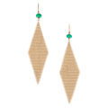Estate Jewelry:Earrings, Emerald, Gold Earrings, Elsa Peretti for Tiffany & Co.. ...