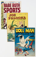 Golden Age (1938-1955):Miscellaneous, Golden Age Comics Group of 3 (Various Publishers, 1943-49).... (Total: 3 Comic Books)