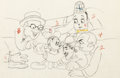 Animation Art:Production Drawing, Mickey's Gala Premiere Mickey Mouse and Film Stars Animation Drawing (Walt Disney, 1933). ...