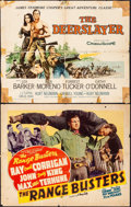 """Movie Posters:Western, The Range Busters & Other Lot (Monogram, 1940). Rolled, Very Good/Fine. Half Sheets (9) (22"""" X 28""""). Western.. ... (Total: 9 Items)"""