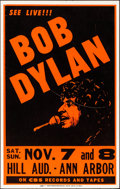 "Movie Posters:Rock and Roll, Bob Dylan Concert (CBS, 1981). Very Fine. Window Card (14"" X 22""). Rock and Roll.. ..."
