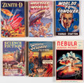 Books:Vintage Paperbacks, Assorted UK Digest-Format Sci-Fi Pulps and Paperbacks Box Lot (Various, 1950s).... (Total: 2 Box Lots)