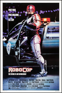 "RoboCop (Orion, 1987). Rolled, Very Fine. One Sheet (27"" X 41"") SS, Mike Bryan Artwork. Action"