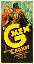"Movie Posters:Crime, G-Men (First National, 1935). Very Good on Linen. Three Sheet (41.75"" X 77.75"").. ..."