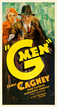 "G-Men (First National, 1935). Very Good on Linen. Three Sheet (41.75"" X 77.75"")"