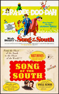 """Song of the South (RKO/Buena Vista, 1946/R-1972). Very Fine. Title Lobby Cards (2) (11"""" X 14""""). Animation..."""