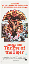 """Movie Posters:Fantasy, Sinbad and the Eye of the Tiger (Columbia, 1977). Folded, Very Fine+. Australian Daybill (13.5"""" X 30""""). Victor Gadino Artwor..."""
