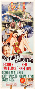"""Movie Posters:Comedy, Neptune's Daughter (MGM, 1949). Folded, Fine/Very Fine. Insert (14"""" X 36""""). Comedy.. ..."""