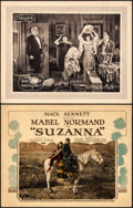 """Movie Posters:Comedy, Suzanna & Other Lot (Allied Producers and Distributors, 1923). Fine/Very Fine. Title Lobby Card & Lobby Card (11"""" X 14""""). Co... (Total: 2 Items)"""