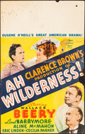 """Movie Posters:Comedy, Ah, Wilderness! (MGM, 1935). Folded, Good+. Window Card (14"""" X 22""""). Comedy.. ..."""