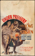 "Movie Posters:Action, Under Pressure (Fox, 1935). Good+. Window Card (14"" X 22""). Action.. ..."