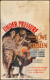 "Under Pressure (Fox, 1935). Good+. Window Card (14"" X 22""). Action"