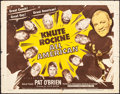 "Movie Posters:Sports, Knute Rockne - All American (Dominant Pictures, R-1956). Flat Folded, Fine+. Half Sheet (22"" X 28""). Sports.. ..."