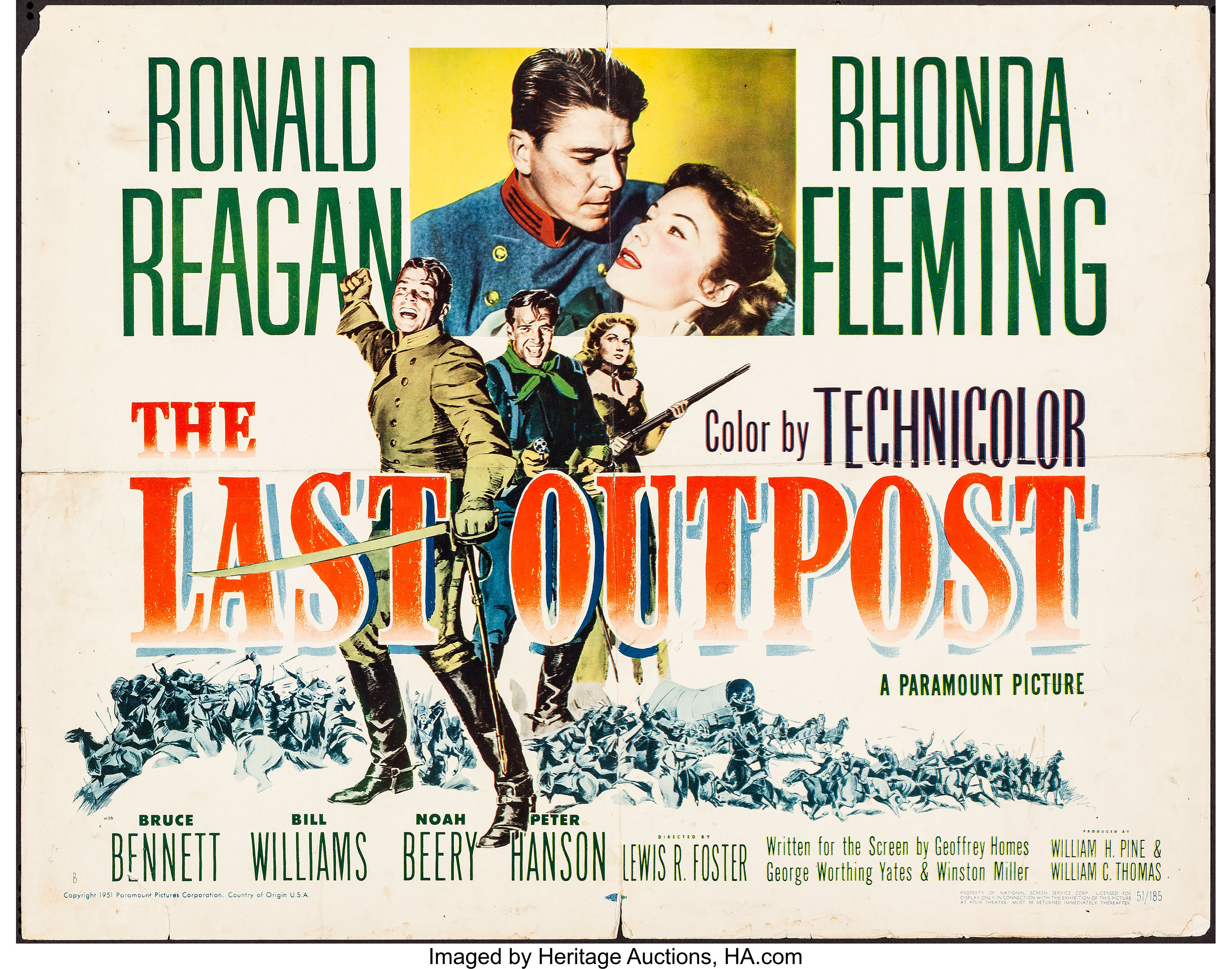 The Last Outpost (Paramount/Citation Films, 1951/R-1961). Folded ...