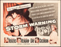 """Movie Posters:Drama, Storm Warning (Warner Brothers, 1951). Rolled, Fine/Very Fine. Half Sheet (22"""" X 28""""). Drama.. ..."""