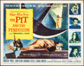 """Movie Posters:Horror, The Pit and the Pendulum (American International, 1961). Folded, Fine/Very Fine. Half Sheet (22"""" X 28""""). Reynold Brown Artwo..."""