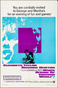 """Movie Posters:Drama, Who's Afraid of Virginia Woolf? (Warner Brothers, 1966). Folded, Very Fine-. One Sheet (27"""" X 41""""). Drama.. ..."""