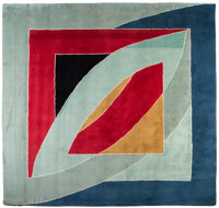 Frank Stella (b. 1936) River of Ponds Tapestry, 1971 Hand-knotted and dyed woven wool 120 x 120 inches (304.8 x 304.8