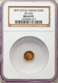 1875 50C Indian Octagonal 50 Cents, BG-934, R.4, MS62 Prooflike NGC. NGC Census: (2/11). PCGS Population: (0/0)