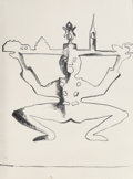 Works on Paper, Andy Warhol (1928-1987). Hans Christian Anderson, 1987. Synthetic polymer paint on paper. 31-1/2 x 23-1/2 inches (80.0 x...