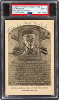 Baseball Collectibles:Others, 1946-52 Kid Nichols Signed Albertype Hall of Fame Plaque Type 1, PSA/DNA Mint 9. ...