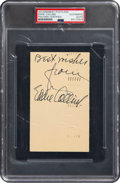 Baseball Collectibles:Others, 1950 Eddie Collins Signed Government Postcard, PSA/DNA Authentic....