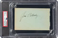 Baseball Collectibles:Others, 1920's Joe Kelley & Jim Bottomley Signed Autograph Album Page, PSA/DNA Authentic....