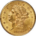 Liberty Double Eagles, 1889-CC $20 MS61 PCGS. Variety 1-A....