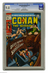 Conan the Barbarian #6 (Marvel, 1971) CGC NM/MT 9.8 White pages. Barry Smith cover. Smith and Sal Buscema art. This is t...