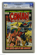 """Bronze Age (1970-1979):Miscellaneous, Conan the Barbarian #17 (Marvel, 1972) CGC NM- 9.2 White pages.Adapted from """"The Gods of Bal-Sagoth"""" by Robert E. Howard. G..."""