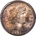 Barber Quarters, 1901-S 25C MS65 PCGS....