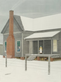Velox Benjamin Ward (American, 1901-1994) The Home My Daddy Built (two works), 1983 Lithograph and E
