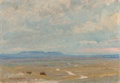 Fine Art - Painting, American, Reveau Bassett (American, 1897-1981). West Texas, 1924. Oil on canvasboard. 7 x 10 inches (17.8 x 25.4 cm). Signed and d...