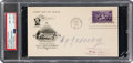 Autographs:Others, 1939 Cy Young Signed Hall of Fame Inaugural First Day Cover, PSA/DNA NM-MT 8....