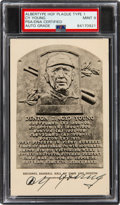 Autographs:Post Cards, 1947-52 Cy Young Signed Albertype Hall of Fame Plaque Type 1, PSA/DNA Mint 9....