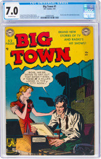 Big Town #1 (DC, 1951) CGC FN/VF 7.0 Off-white pages