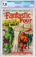 Silver Age (1956-1969):Superhero, Fantastic Four #12 (Marvel, 1963) CGC FN/VF 7.0 White pages....
