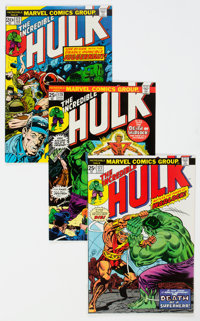 The Incredible Hulk Group of 33 (Marvel, 1973-76). Condition: Average NM-.... (Total: 33 )