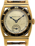 Timepieces:Wristwatch, Hamilton, 14k Gold Piping Rock. ...