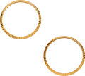 Timepieces:Other , Two Rolex Fluted Gold Bezels, 34 mm Diameter. ... (Total: 2 Items)