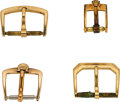 Timepieces:Other , Four Vintage Buckles, Rolex, Bulova, Two Omega. ... (Total: 4 Items)