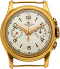 "Timepieces:Wristwatch, Rolex, Rare ""Piccolino"" 18k Gold Small Chronograph, Ref. 3055, circa 1930's. ..."